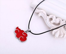 Naruto Anime Akatsuki Red Cloud Necklace Floating Locket Alloy Jewelry Gift