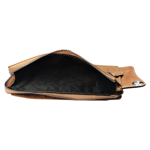 Image 4 - High Quality Men s zipper wallet cowhide phone wallets multi functional hand bag cow leather purse A375