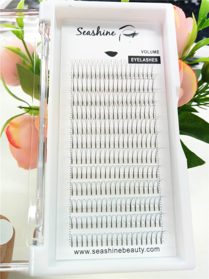 Own brand 100% Russian material volume 3D silk lashes individual eyelash extensions
