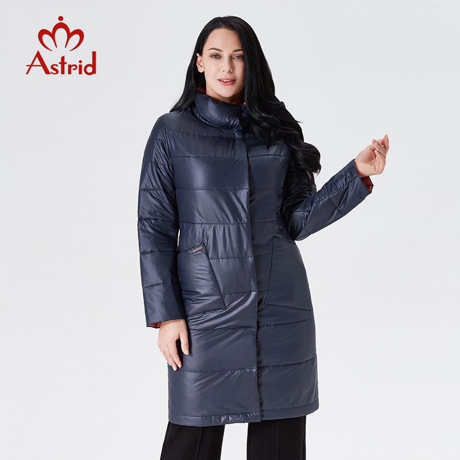 Astrid 2019 kurtka zimowa kobiety nowy długi płaszcz kobiety Slim fit jednolity kolor płaszcz ciepłe wiatroszczelna wysokiej jakości temperament coatAM1960 w Parki od Odzież damska na  Grupa 1