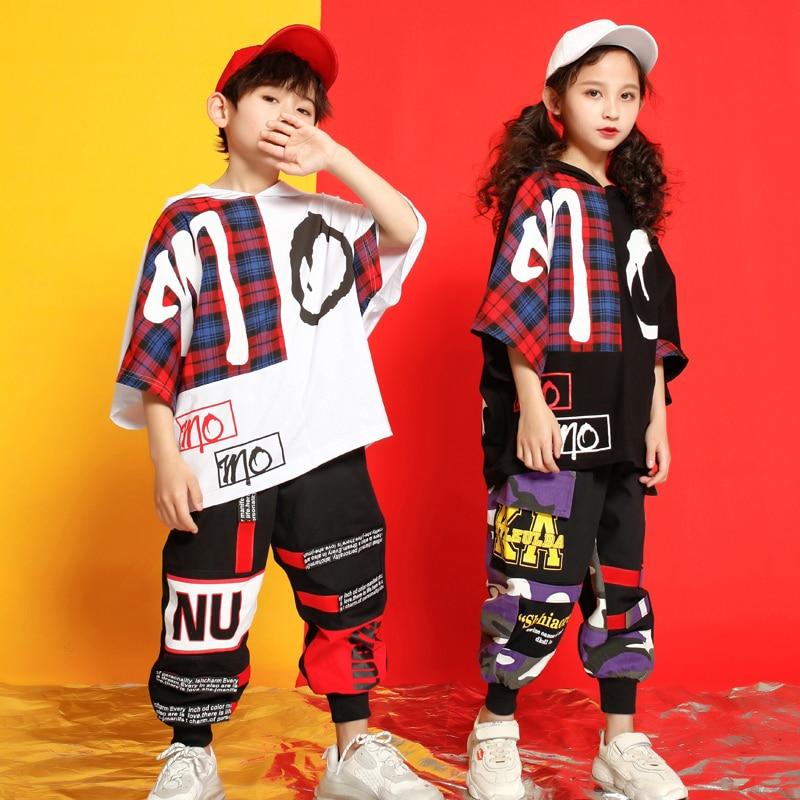 Kids Concert Hoodie Tshirt Dancing Hip Hop Costumes Clothing Outfits Dance Costumes Girls Boys Ballroom Stage Dancing Streetwear