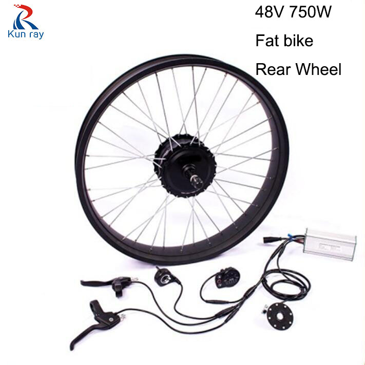 Fat bike Conversion kit 750W 48V Gear Brushless Hub Motor 20-28inch Cycling Electric bicycle rear wheel Snowmobile Motor Kits eunorau 48v500w electric bicycle rear cassette hub motor 20 26 28 rim wheel ebike motor conversion kit