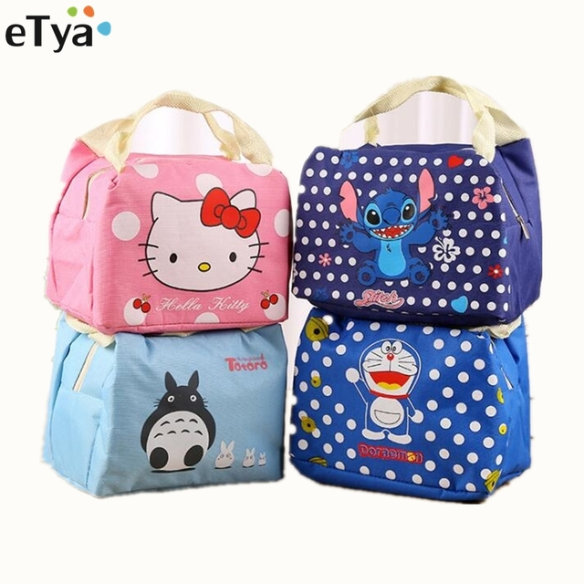 Cartoon Cute Insulated Lunch Bag For Women Men Kids Food Picnic Thermal Bags Portable School