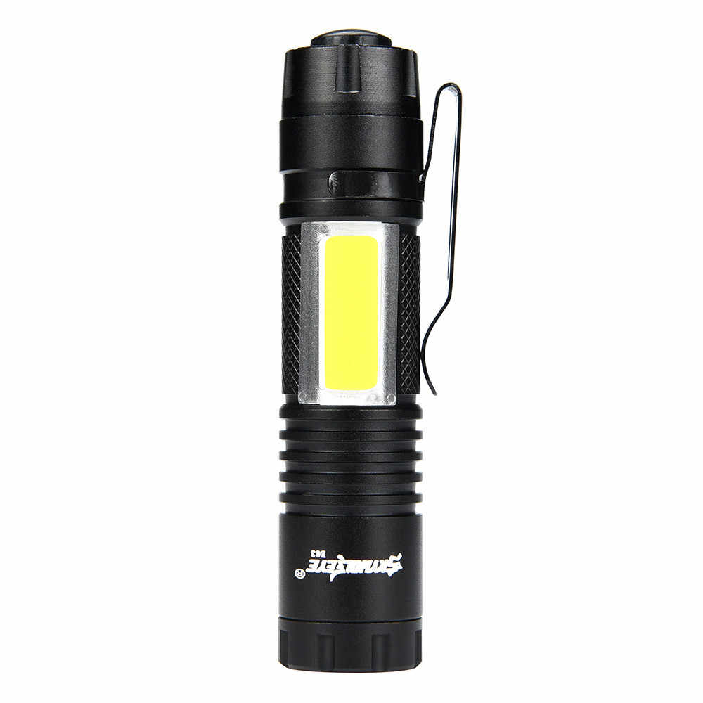5000LM  Flishlight XPE Q5 + COB LED Mini Flashlight 14500/AA 4 Modes Pocket Torch Lantern Car Service Station Work Light#h