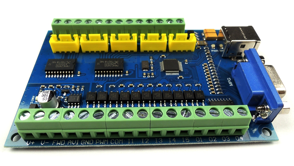 MACH3 USB CNC 5 Axis 100KHz Smooth Stepper Motion Control card breakout board+TB6600 4 Axis 4.5A Stepper Motor Driver board-in Motor Driver from Home Improvement    2