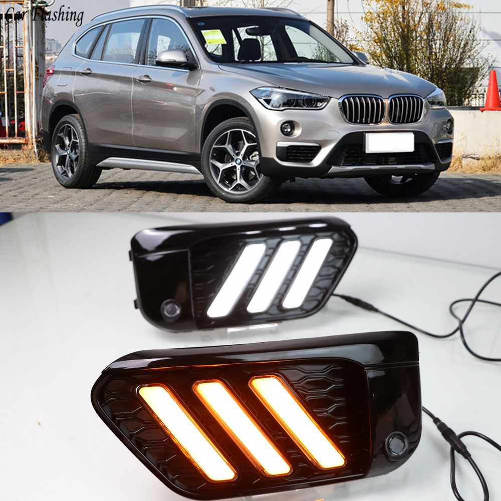 2PCS LED DRL Daytime Running Light Daylights For BMW X1