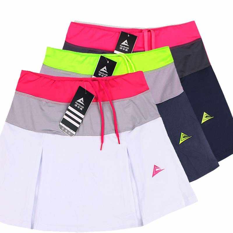 Vrouwen Sport Badminton Rok Tennis Skorts Lente Zomer sneldrogende Patchwork Vrouwelijke Training Rokken met Veiligheid Shorts