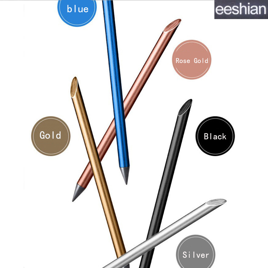 eeshian Full Metal Inkless Beta Pens Without Ink No-ink Painting Writing Papelaria Caneta Office & School Supplies  IM001 inkless metal pen metal fountain pen for writing business school student inkless metal pocket pen 100% quality guarantee