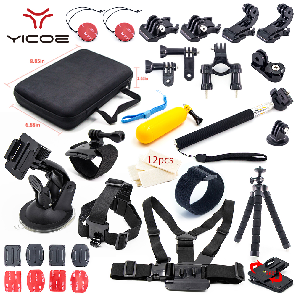 Accessoires de caméra de sport Selfie professionnel pour GoPro Go Pro Hero Session5 4 3 SJCAM SJ7 Xiao yi 4 k pour kit d'accessoires de caméra