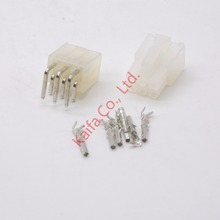 20 sets 6 Pin/way 4.2mm Curved needle 5557&5569 wire terminals electrical connector plug for PCB/CPU/car/motorcycle