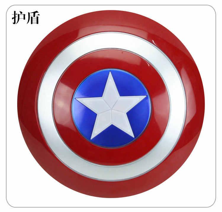 32 cm novo capitão américa figura brinquedos luminosa chateado escudo máscara cape avengers anime mostrar adereços brinquedos das crianças presentes do feriado