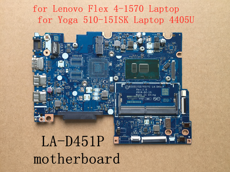 New BIUS1 S2 Y0 Y1 LA D451P motherboard for Lenovo Flex4 1570 Yoga 510 15ISK