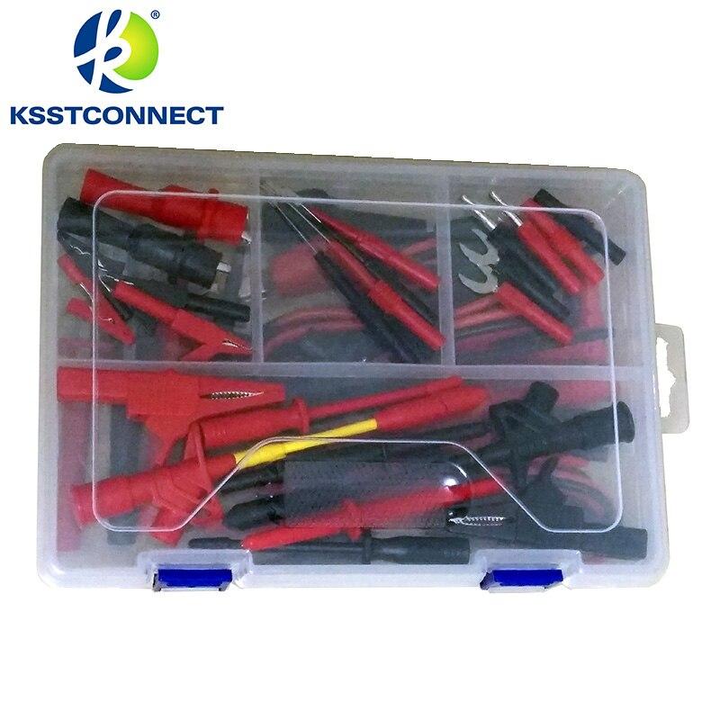 dmm2000 electronic specialties test lead kit back probe alligator piercer hook multimeter test kit connectors from home improvement on