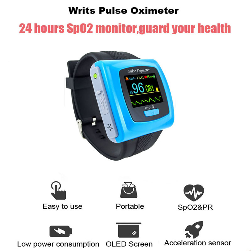 CE Wrist pulse oximeter Fingertip Color OLED Display SpO2 Oximeter Probe+ Software,CMS50F Blood Oxygen Monitor oximeters color oled wrist fingertip pulse oximeter with software spo2 monitor