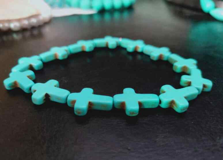 Sl 0257 2018 новый Этнический стиль, натуральный камень браслет классический браслет с голубыми бусинами мужские и женские лучшие продажи лучший друг подарок