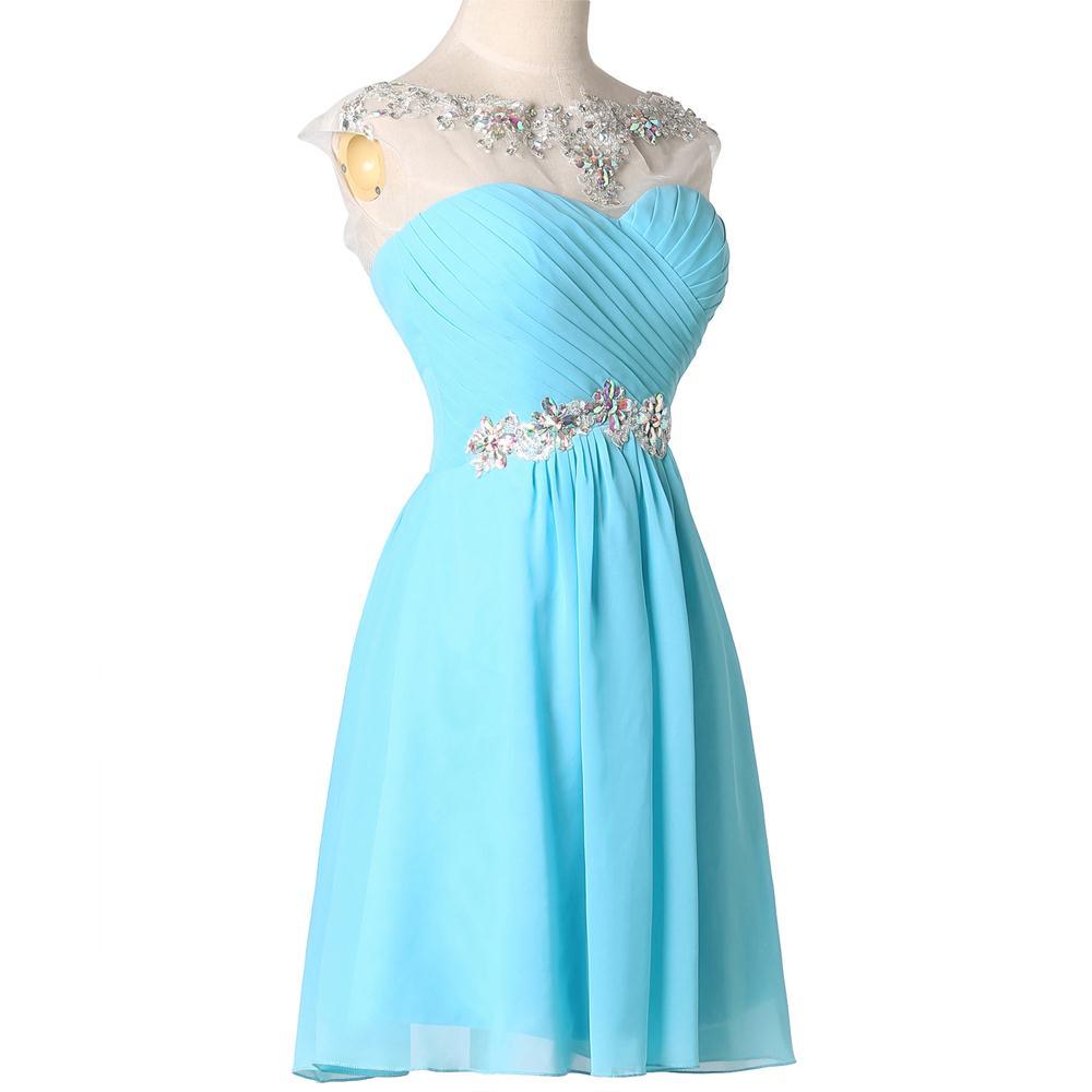 Purple Prom Dresses Grace Karin Blue Violet Lace Chiffon Short ...