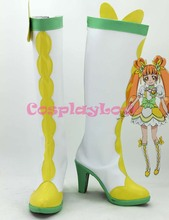 Newest Custom Made Japanese Anime Heart Catch Pretty Cure Rosetta Cosplay Shoes Long Boots For Christmas Halloween(China)