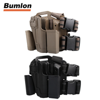 Tactical Right Hand Military Gun Belt Colt 1911 Holster Belt w/ Paddle For Hunting 31 0004P