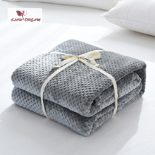 Slowdream 2019 Fashion Gray Flannel Pineapple Blanket Aircraft Sofa Office Adult Car Travel Warm Throw For Couch