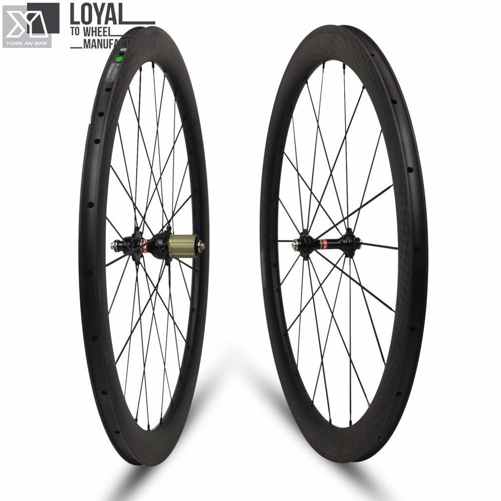 DT SWISS 240s Hub Clincher Carbon Road Bike Wheels 25mm Width 50mm Depth Clincher Rim With