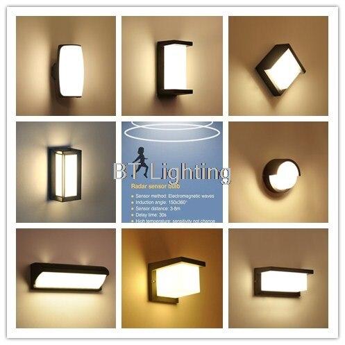 Garden Wall Light Modern Lighting Waterproof Lamp Gate Motion Sensor Outdoor  Light With Sensor