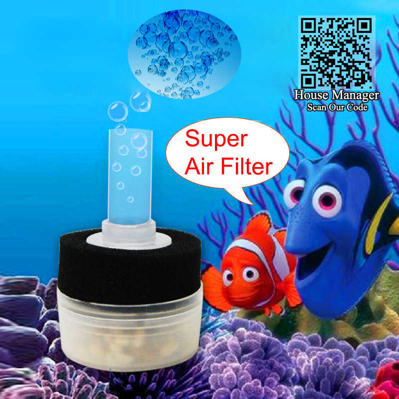 Fish Tank Sponge Biochemical Filter to work with Air Pump, Air Drive Filtering for Aquarium Fish Accessories, need air pump