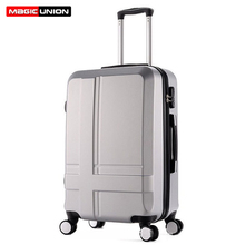Купить с кэшбэком MAGIC UNION 20/24/28 inches Suitcase Rolling Luggage Fashion Cross Travel Bags Rolling Suitcase Extension Boarding Carry-Ons