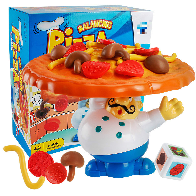 New Early Education Intelligence Interaction Balance Pizza Fun Game Counter Cook Parent Child Table Game Pizza Childrens Toys