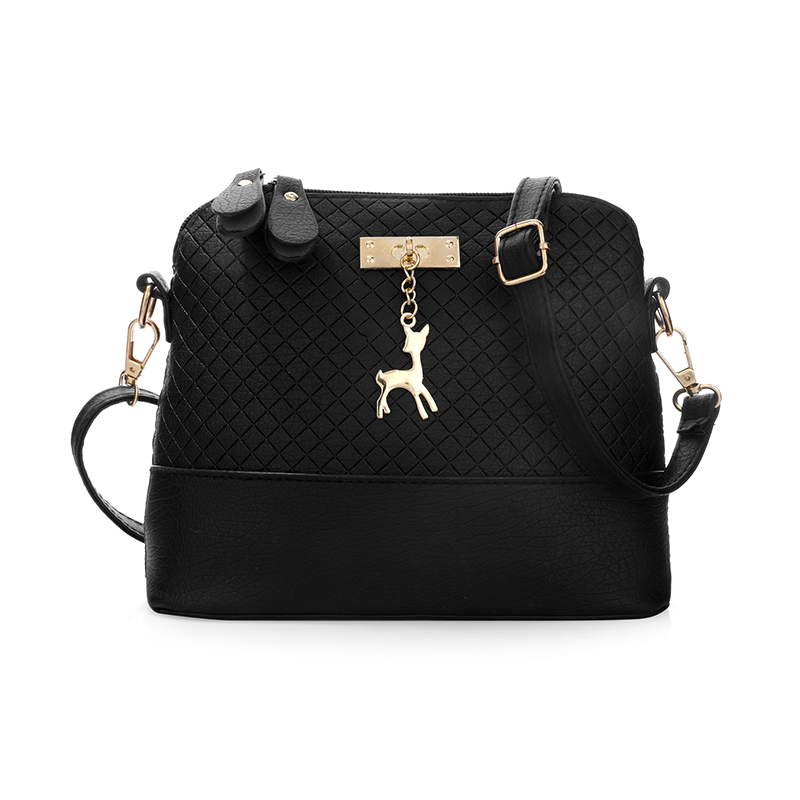 PU Leather Women Bag Messenger Bags Fashion Mini Bag With Deer Toy Shell Shape Women Shoulder Bags Handbag sac a main bolsas fashion women mini messenger bag pu leather shell shape bag crossbody shoulder bags with deer toy popular
