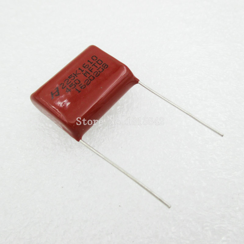 10PCS/Lot 450V <font><b>2.2uF</b></font> CBB Polypropylene Film <font><b>Capacitor</b></font> Pitch 20mm 225 <font><b>2.2uF</b></font> 450V NEW image