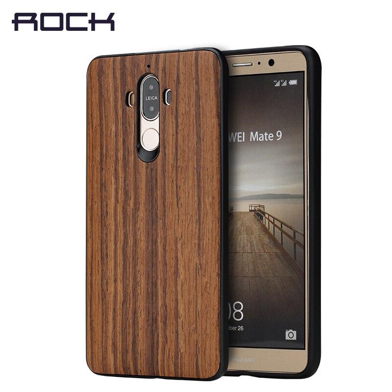 imágenes para ROCK Textura Series Caja Del Teléfono para Huawei Mate 9 Caso, grano De Madera cubierta de la Caja para la caja 9 Nuevo Caso de la Cubierta suave