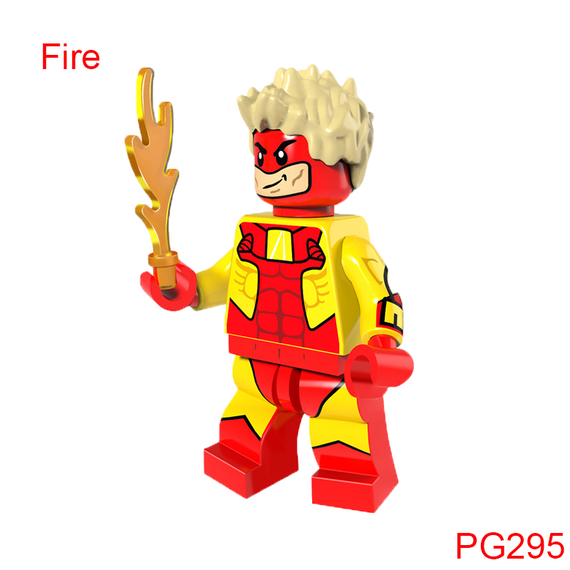 Single Sale Pg295 Super Heroes Fire Radioactive Sunfire Man Building Blocks Best Children Toys Gift