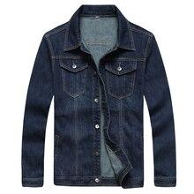 9XL 8XL 6XL 5XL 4XL mens denim jacket model 100%cotton informal mens jean jacket darkish blue strong coat male mens clothes trend