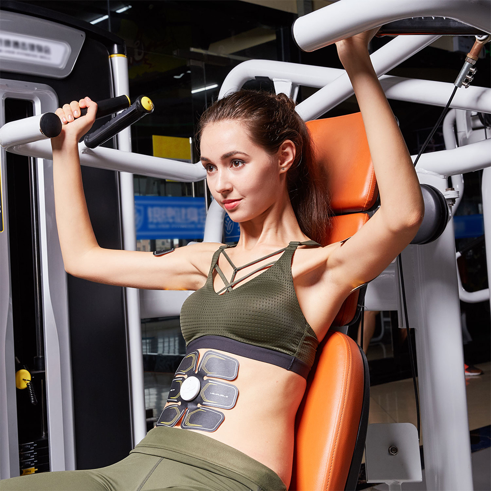 EMS Abs Trainer Abdominal Muscles Toner Body Fit Toning Belts Toner Fitness Training ABS Stimulator AB Muscle Toner in Integrated Fitness Equipments from Sports Entertainment