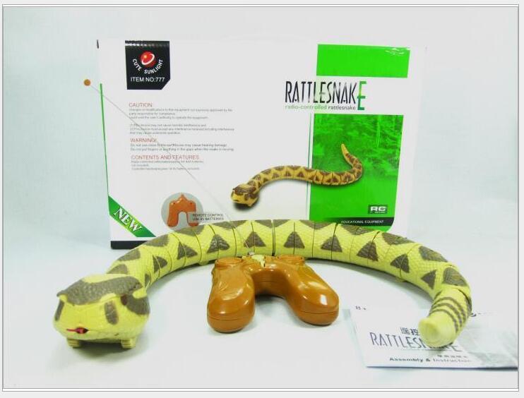 rc rattle snakes terror Loud tail snake animal toy creative strange infrared emulation Child P5