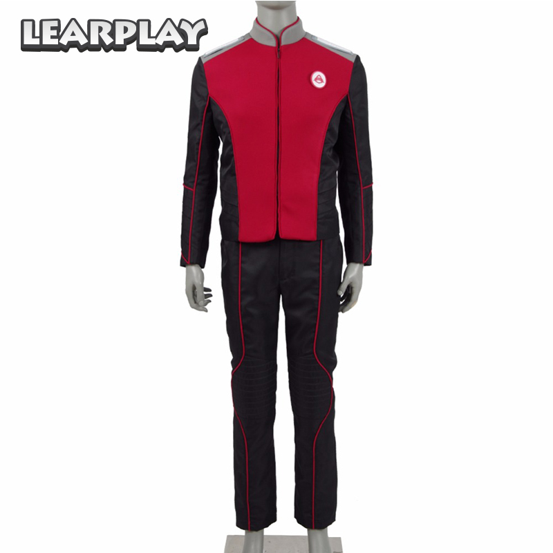 The Orville Security Department Alara Kitan Uniform Cosplay Costume 2017 Starfleet Red Lieutenant Halloween Duty Outfit-in Movie & TV costumes from Novelty & Special Use