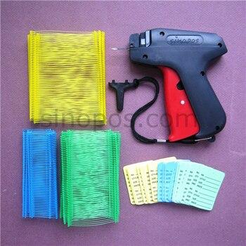 [STD] Kit de fijación de etiquetas estándar 2, colores surtidos, 1 tagger + 1000 sujetadores de recarga + 120 etiquetas de precio, juego de pistola de etiquetado regular