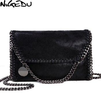 c42ebc476db1 NIGEDU Мода stella дизайн Подробно Цепи женщины сумка почтальона сумочки  клатч роскошные вечерние сумки сумки женские сумка женская
