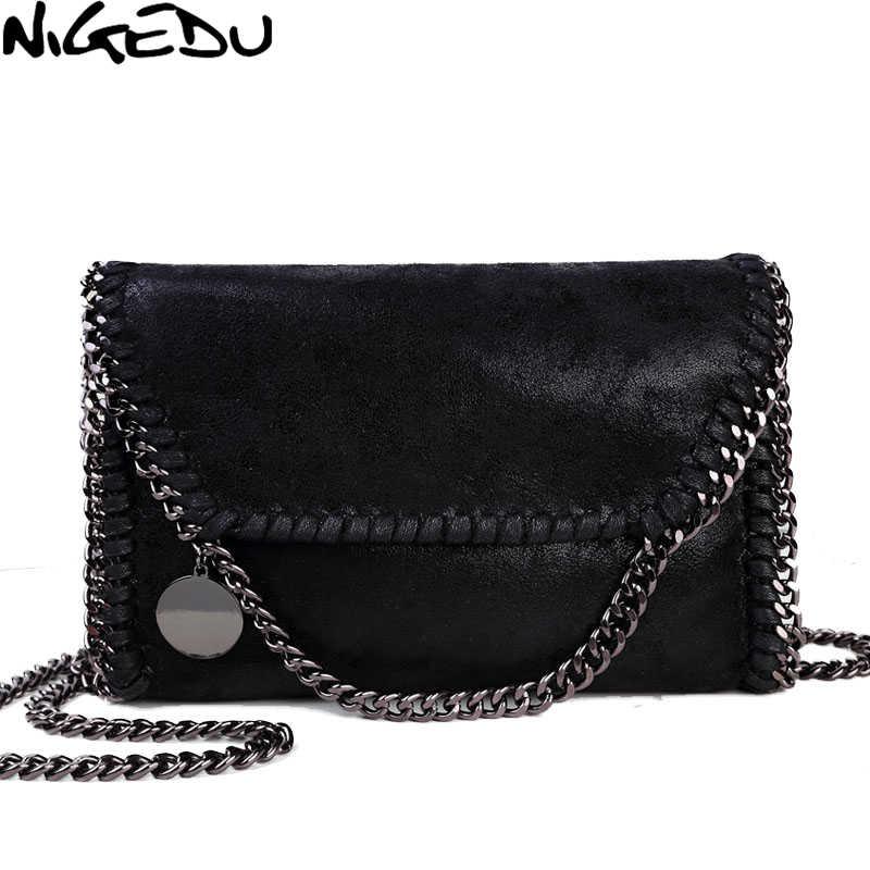 NIGEDU Мода stella дизайн Подробно Цепи женщины сумка почтальона сумочки клатч роскошные вечерние сумки сумки женские сумка женская