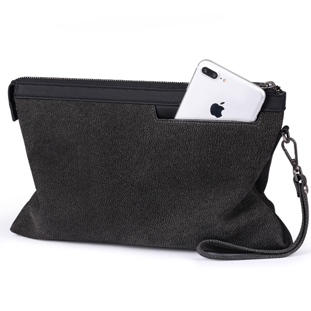 Pabojoe 2018 New Design Unique Genuine Leather Wallets for Men Brand Design Long Zipper Purse Clutch