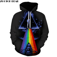 Hot Triangle Printed Men Women Hoodies Novelty 3D Printed Sweatshirt Hooded Tracksuit Brand Quality Pullover 2017 ZOOTOP BEAR