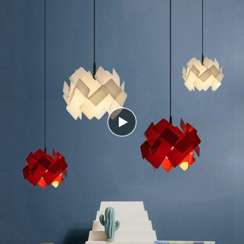 LuKLoy Acrylic Explosion Hanging Lamp Modern Pendant Light Kitchen Dining Room Table Pendant Lamp Loft Suspension Light Fixture