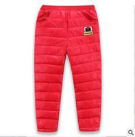 Manufacturer direct sale 2018 autumn winter children's wear new children's down trousers boy girl baby warm pants qz 147