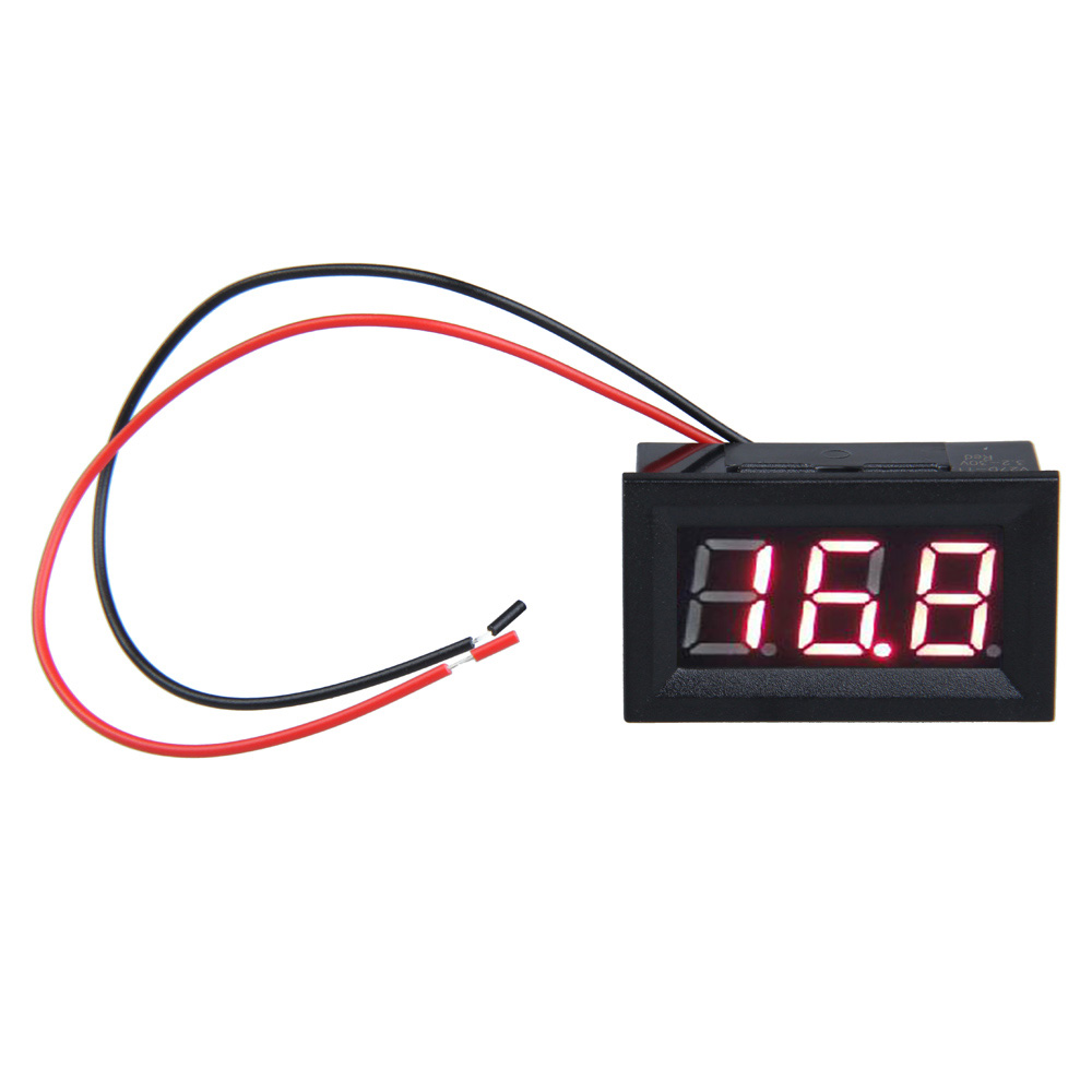 Superior Digital Panel Meter 0.56inch Lcd Dc 3.2-30v Red Led Digital Voltmeter With Two-wire Diy Electronic Accessories Bs Furniture