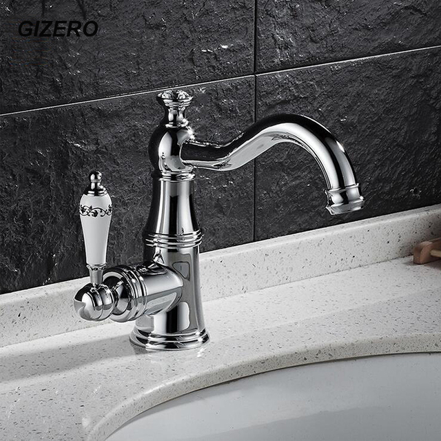 Luxury European Style Chrome Brass Finished Crystal Faucet Ceramic Handle  Bathroom Vanity Sink Mixer Tap Pia