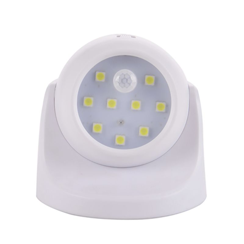 New 9 LED Led Motion Sensor Night Light 360 Degree Rotation Childrens Nightlight Auto PI ...