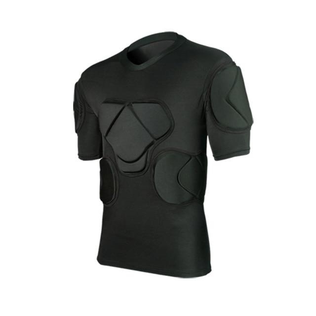 Регби вратарь футбольные майки тренировочные штаны наколенники EVA губка футболка для американского футбола наколенники защита голени сноуборд шлем - Цвет: black shirts