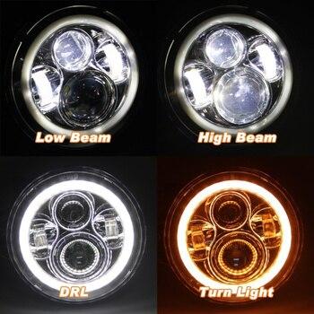 ángulo De Aluminio Lowes | FAUIDES 7 Pulgadas LED Faro DRL Halo ángulo Ojos H4 Led Faro Para Jeep Wrangler TJ JK LJ Ilimitado 1997 1998, 1999, 2000-2015