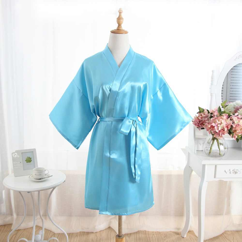 55b7030bc1 Detail Feedback Questions about Hot Women robe Silk Satin Robes Wedding  Bridesmaid Bride Gown kimono Solid robe One size fit S XXL Light Blue on ...