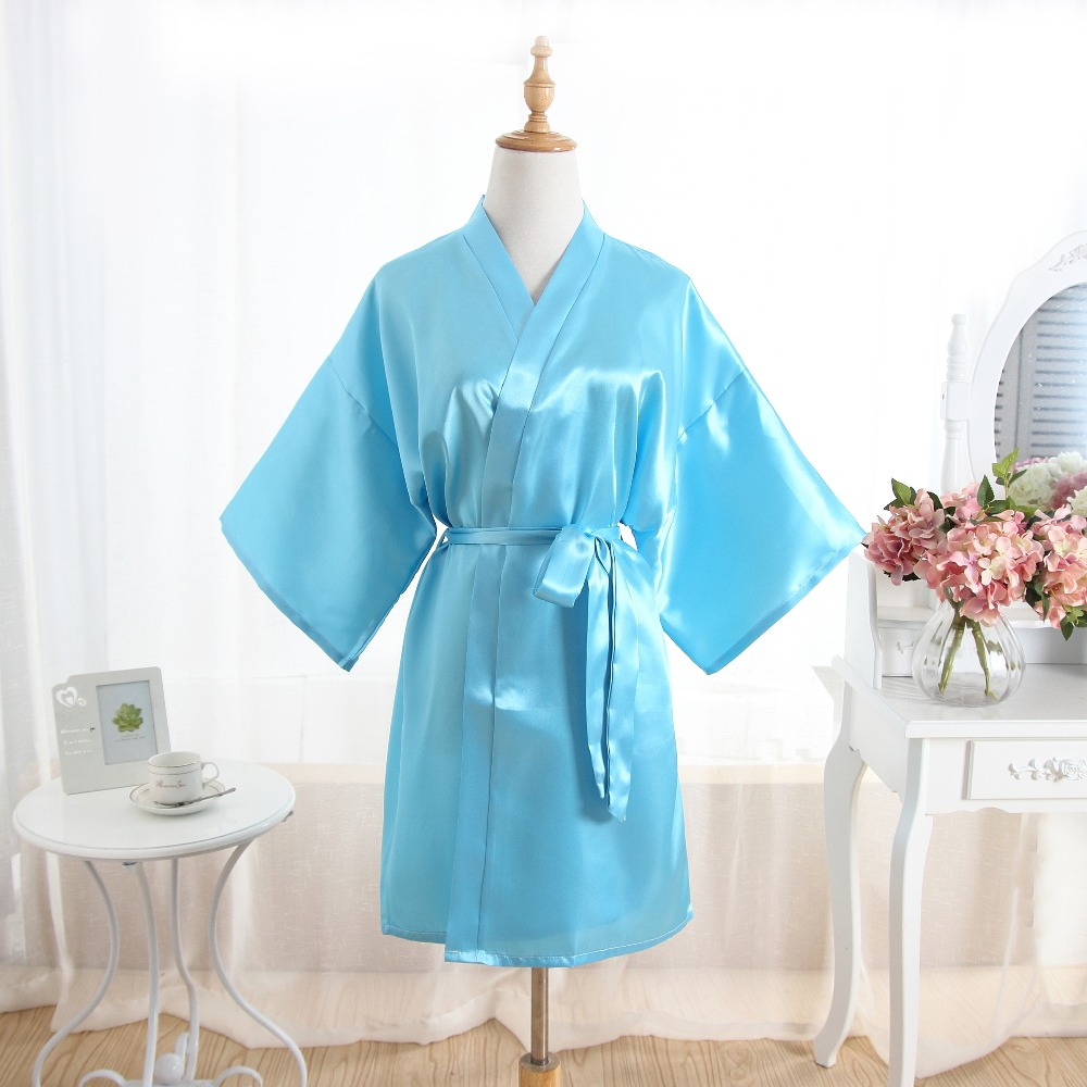 4aeee5cbca Hot Women robe Silk Satin Robes Wedding Bridesmaid Bride Gown kimono Solid  robe Christmas gift store
